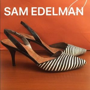 ⭐️SAM EDELMAN PONY HAIR HEELS 💯AUTHENTIC
